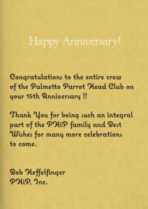 PHiP's 15th Anniversary Card to the PPHC